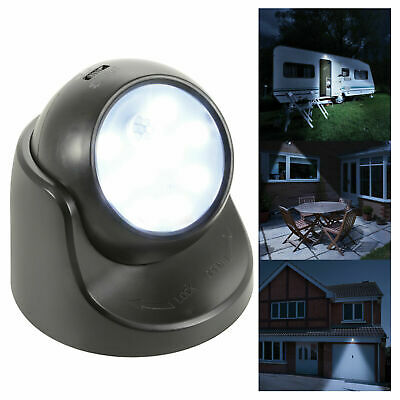 Wireless LED Motion Sensor 360 Degree Weatherproof SMD LED Light Black