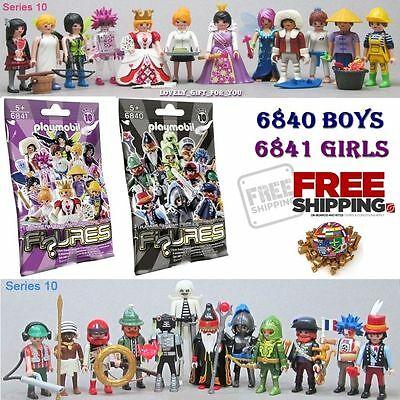☀️ NEW Playmobil Series 10 Complete Collectible Set 6840 Boys & 6841 Girls ✅✅✅