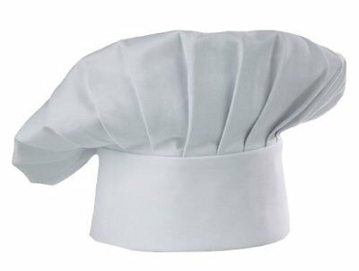 Chef Hat White Cloth One Size Fit All Velcro Closure Free Shipping Usa Only