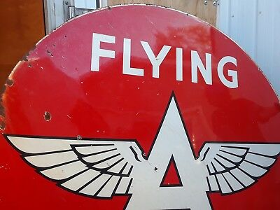 LOOK! Rare Original Flying A Service Sign