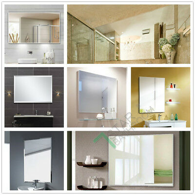 Wall Mirror 1500 / 1200 / 900 / 750mm Large Luxury Bathroom Square Rectangle NEW
