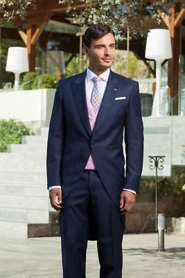 Custom Made 3 Pieces Mens Suits One Button Jacket Style Tailcoat Party Tuxedos