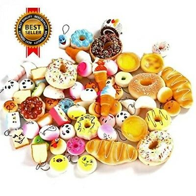 Randomly Style Soft Slow Rising Squishy Bread for Phone Charms 30 Pcs NEW