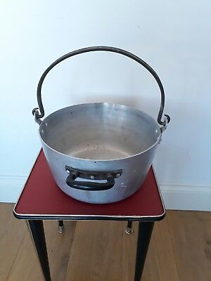 vintage aluminium saucepan cooking pot jam pot kitchenalia