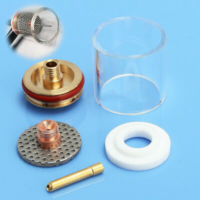 5pcs TIG Welding Torch Pyrex Cup Gas Saver Nozzle Kit for WP-9/20/25 3/32""