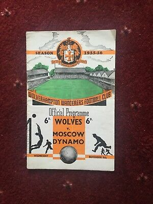 Wolves v Moscow Dynamo Programme, 1955