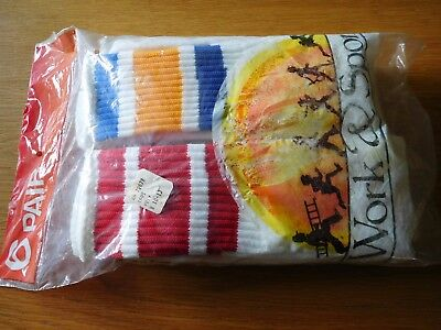 Vintage Men's Tube Sock's 6 Pair Pack Size 10-13 100% Poly
