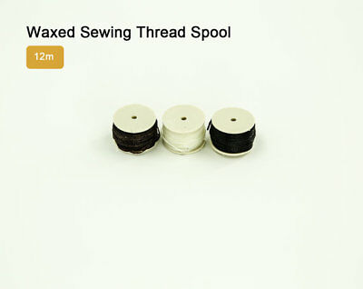 Waxed Sewing Thread Spool for Tandy Lock Stitch Awl 12m LeatherMob Leathercraft