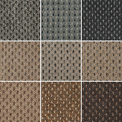 Cheap Dot Patterned Loop Pile Carpet Hardwearing Felt Backing Lounge, Stairs