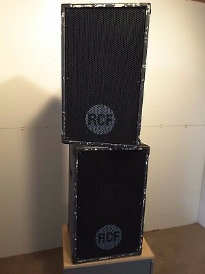 Pair of large RCF speakers vintage retro