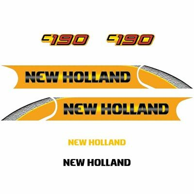C190 Decals Stickers New Holland Repro C190 Decals Stickers
