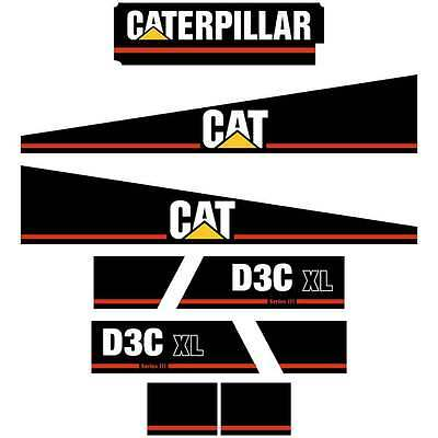 CAT D3C III Decals Stickers Repro Kit
