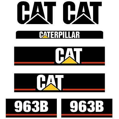 CAT 963 Decals, 963B Repro Decals Stickers