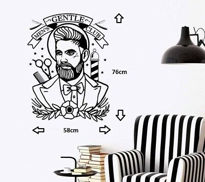 BarberShop Hipster Design Wall Art Sticker/Decal