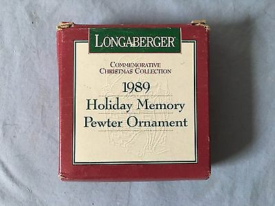 Longaberger 1989 Holiday Memory Pewter Ornament