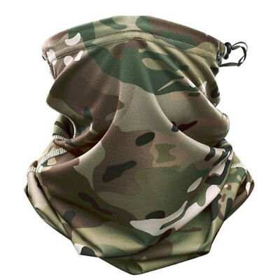 Multicam Camouflage Drawstring Neck Gaiter Scarf Snood Mask Airsoft Paintball UK