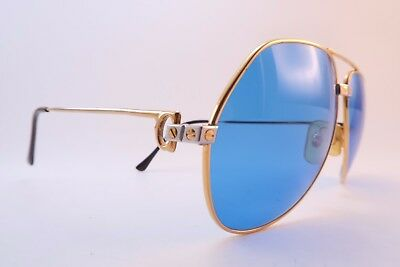 Vintage 24K gold filled VENDOME SANTOS sunglasses Cartier Paris 62-14 140 France