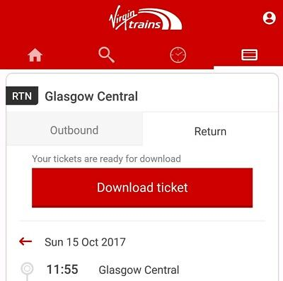 Glasgow to birmingham direct train Sunday 15th October 11:55 to 16:06