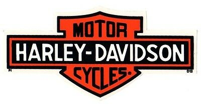 "6-1/4"" Genuine Harley Davidson Long Bar And Shield ~ Inside Window Decal Sticker"