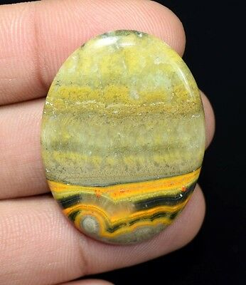 45.85 Cts. 100 % Natural  Designer  Bumble Bee Jasper  Oval  Cab Loose  Gems