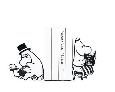 Moomins from Tove Jansson books - steel bookends - 7x5.9 inches (18x15 cm)