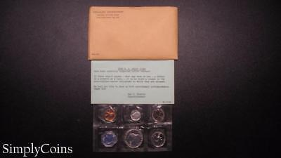 1958 Proof Set ~ Original Envelope With COA ~ US Mint Silver Coin Lot SKU-605