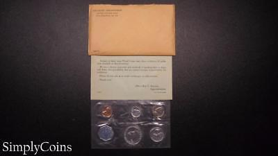 1960 Proof Set ~ Original Envelope With COA ~ US Mint Silver Coin Lot SKU-612
