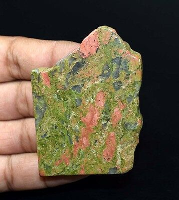 238.20  Cts. 100 % Natural Unakite Jasper  Top Rough Slab For Making Cabochons