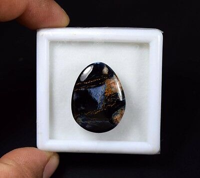28.05 Cts. 100% Natural Chatoyant Pietersite Egg Cabochon Untreated Loose Gems
