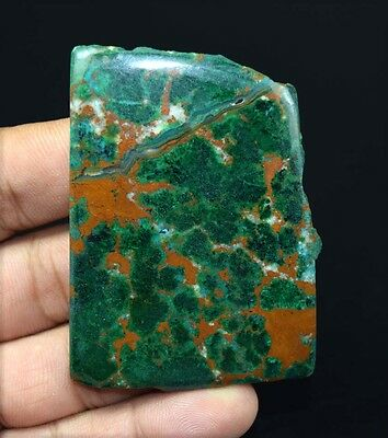 231.15 Ct.100 % Natural Designer Malachite Chrysocolla Rough Slice For Cabochons