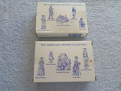 Lot Of 2 - Americana Pewter Collection - Ah71 & Ah72 - Pewter Figures