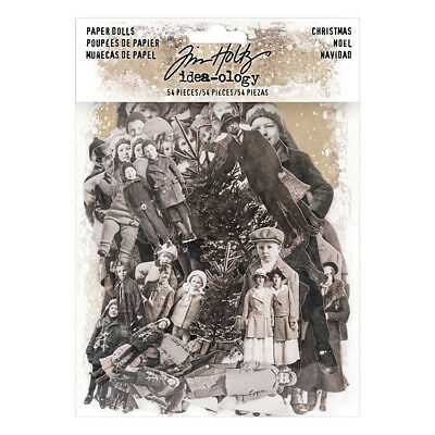 Tim Holtz Idea-ology CHRISTMAS PAPER DOLLS Paperie TH93665