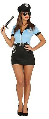Sexy Womans Police Cop Costume Hen Fancy Dress Party Outfit