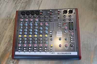 Allen & Heath ZED10FX 10 channel mixer boxed manual