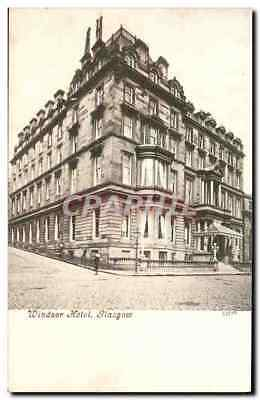VINTAGE POSTCARD Windsor Hôtel Glasgow