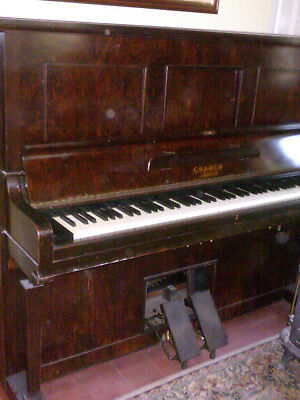 Pianola working order, varnish bit rough, some missing wood,works as a piano