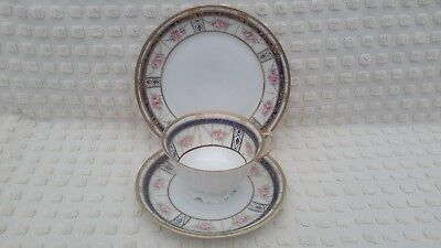 Pretty Hand Painted And Gilded Noritake Trio Nippon