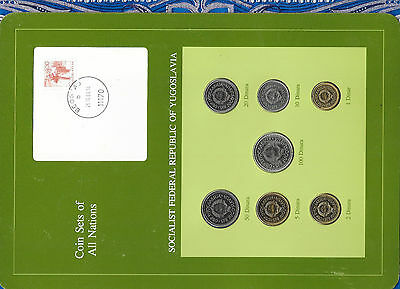 Coin Sets of All Nations Yugoslavia UNC 100,50,20 Dinara 1985 10,5,2,1 Dinara 83