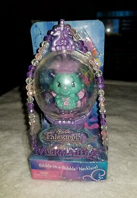 Rare HTF Barbie Vintage Fairytopia Mermaidia Bibble-in-a-bubble Necklace NIB