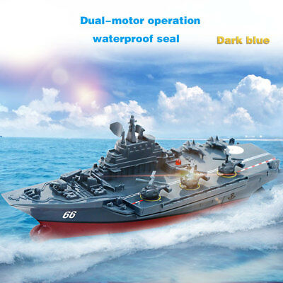 2.4GHz RC Radio Remote Control Navy Aircraft Carrier ship Boat Warship Toy Gift