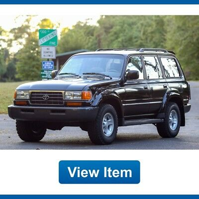 1997 Toyota Land Cruiser Base Sport Utility 4-Door 1997 Toyota Land Cruiser 4WD 3rd Row Seat 1 Owner FJ80 Serviced CARFAX!