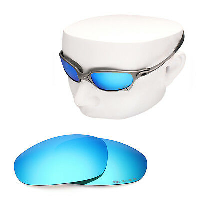 d6c65dabd56 OOWLIT Replacement Sunglass Lenses for-Oakley Juliet POLARIZED - Blue Mirror
