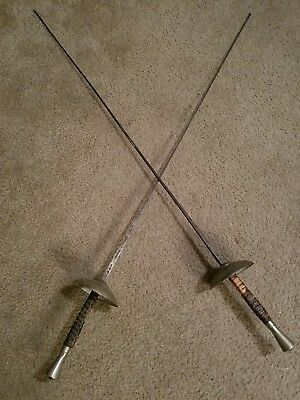(2) Mid 19th Century Antique  Klingenthal  Coulaux & CIE French Fencing Swords