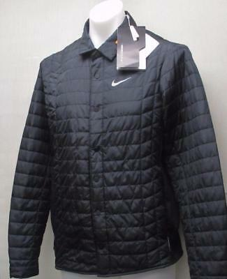 New Mens LARGE Nike Golf Thermal Filled Water & Wind Resistant jacket Black