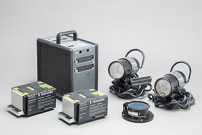 Broncolor mobil Battery Power Pack two mobilite head kit - USED