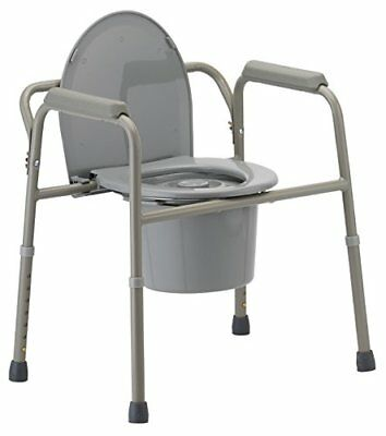 NOVA Medical Products 3-in-1 Commode, Grey, 11 Pound