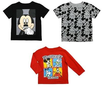 bdf3f91d43 Disney 3 Pack Toddler Boys Mickey Mouse Clubhouse T-Shirts Sizes 3T and 4T  NWT