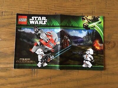 Lego Star Wars 75001 -  Building Instructions Booklet Only
