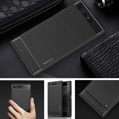 Premium Slim Shock Proof Carbon Protective Case Cover for Sony Xperia phones