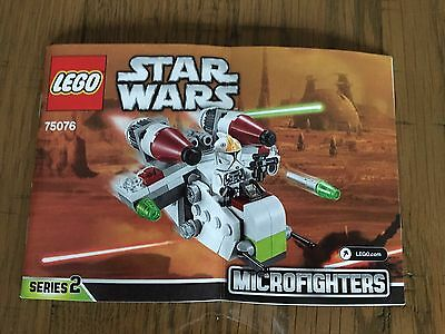 Lego Star Wars 75076 -  Building Instructions Booklet Only